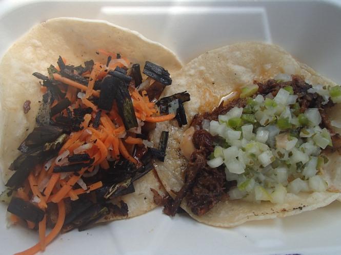 Short Rib Taco, Pork Belly Taco