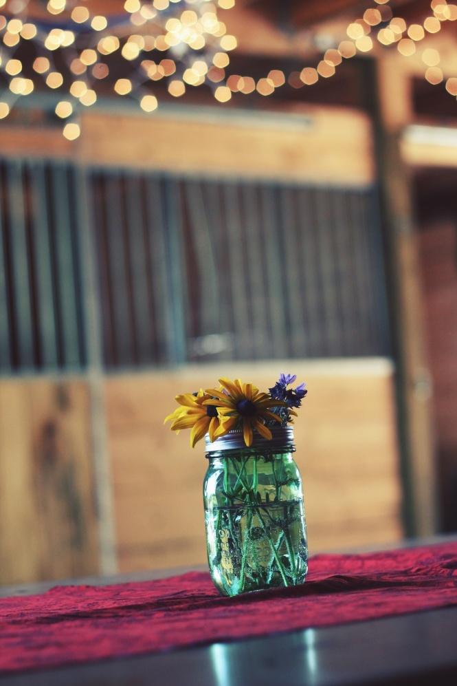 flowersmason jar